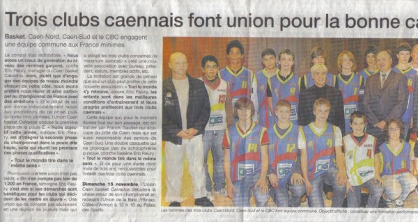 Article Union Caen Octobre 2009