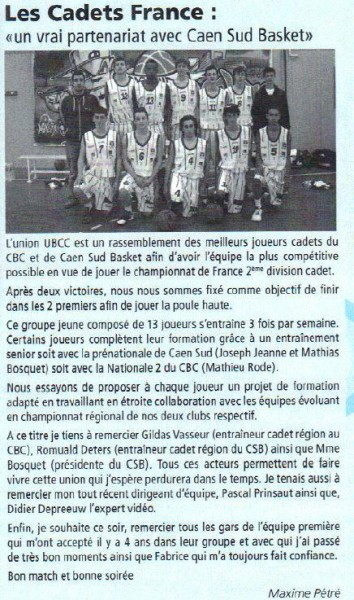 Cadets France - Octobre 2012